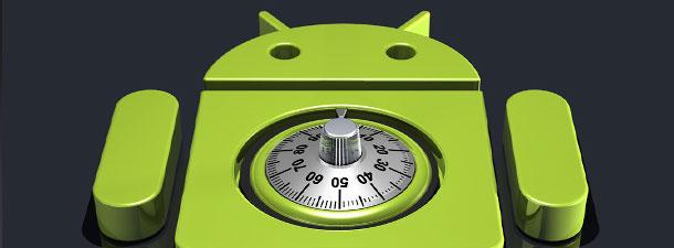 android met een ingebouwd slot