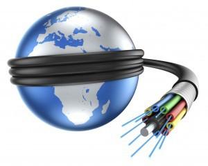 wereld verbonden met internet